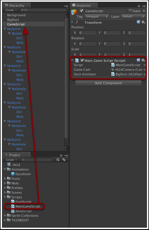 为GameScript对象添加游戏控制脚本