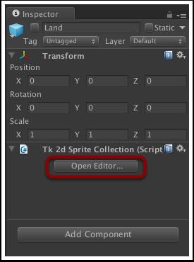 打开SpriteCollection编辑器